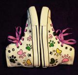Zapatillas converse blancas pisada gato