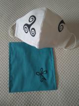 Mascarilla blanca símbolos Hawaii