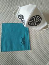 Mascarilla blanca símbolos Hawaiianos