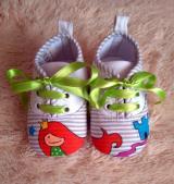 Zapatillas de Rayas con Sirena